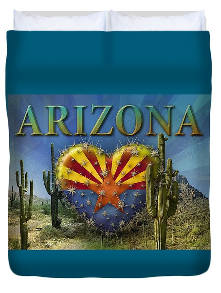 I Love Arizona Landscape Duvet Cover