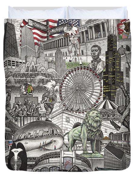 I Love Chicago Volume 2 Duvet Cover