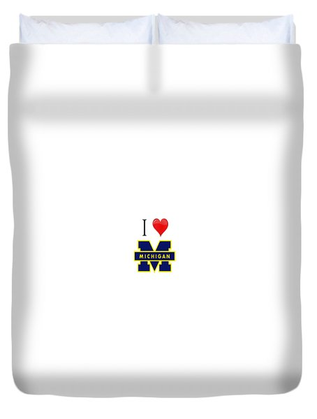 I Love Michigan Duvet Cover