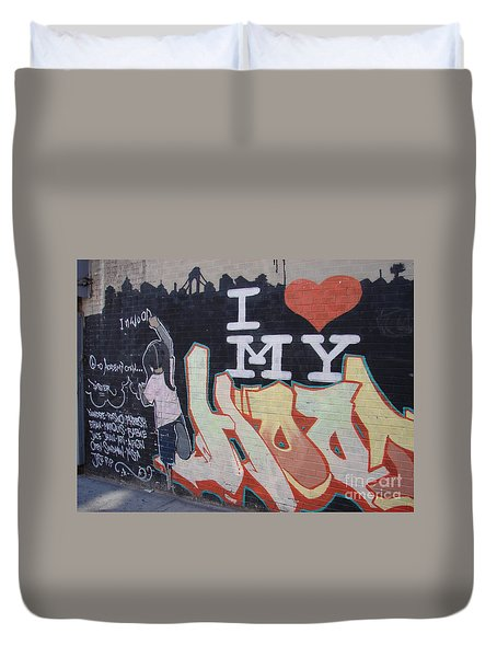 I Love My Hood Duvet Cover by Cole Thompson