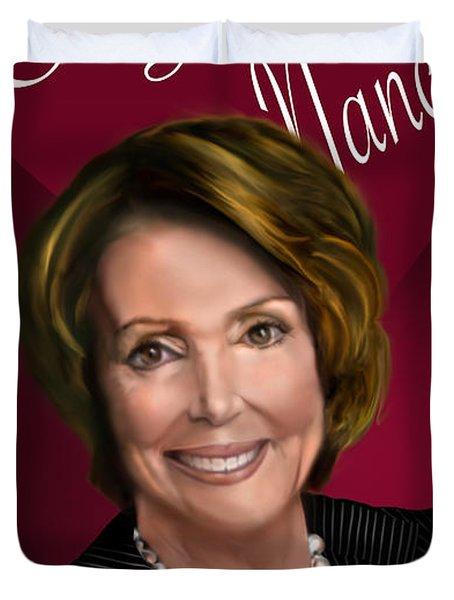 I Love Nancy Duvet Cover by Reggie Duffie