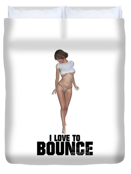 I Love To Bounce Duvet Cover by Esoterica Art Agency