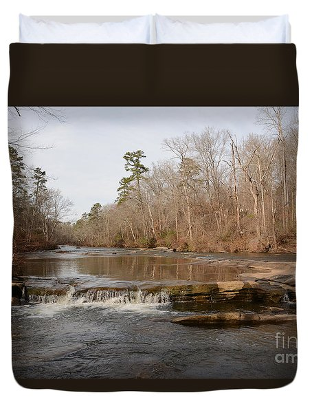 I Love To Go A Wanderin' Yellow River Park -georgia Duvet Cover