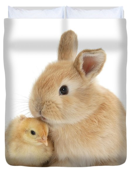 I Love To Kiss The Chicks Duvet Cover