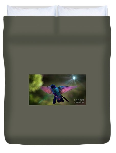 I Love Tom Thumb Duvet Cover by Al Bourassa