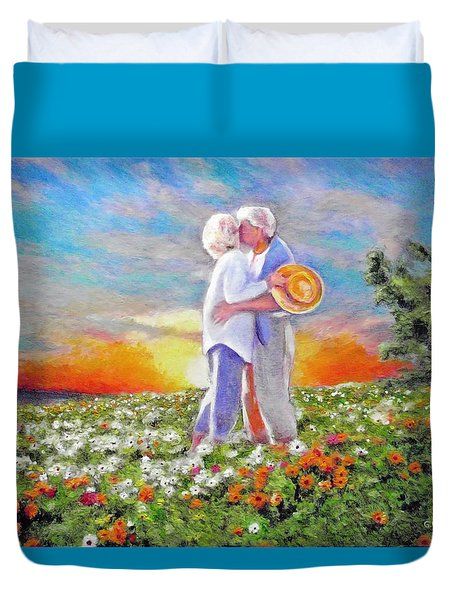 I Love You Darling Duvet Cover by Michael Durst