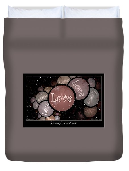 I Love You Duvet Cover