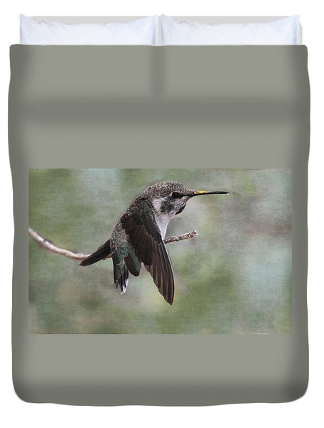 Duvet Cover featuring the photograph I Need A Napkin by Tammy Espino