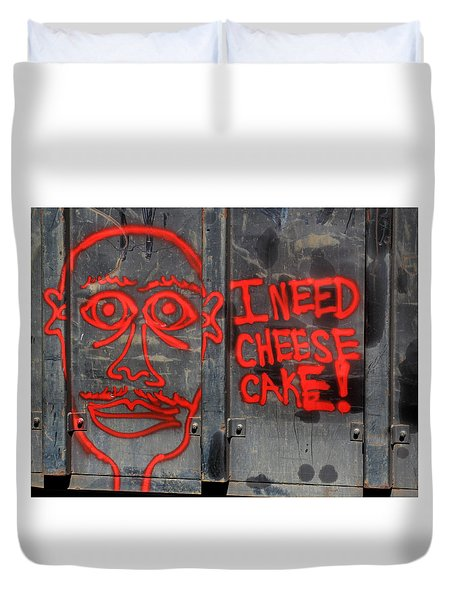 Duvet Cover featuring the photograph I Need Cheesecake by Joseph C Hinson Photography