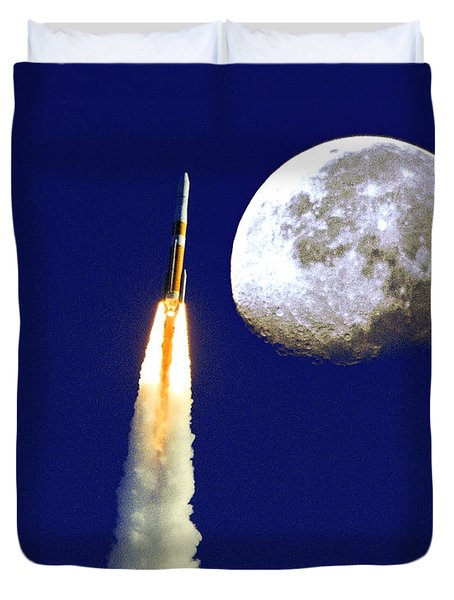 I Need My Space Duvet Cover by Roger Wedegis