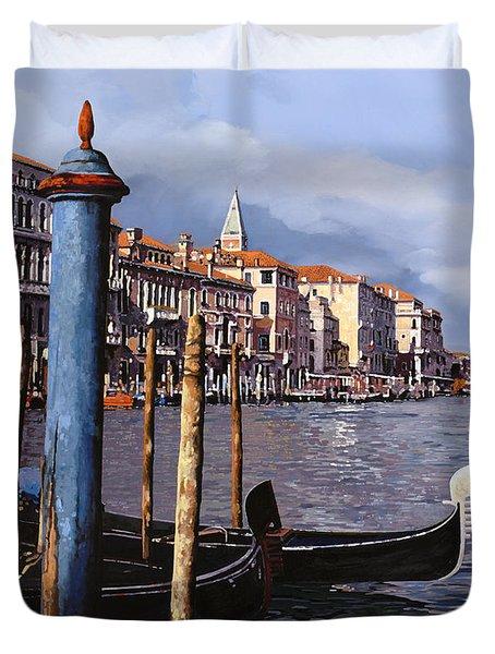 I Pali Blu Duvet Cover by Guido Borelli