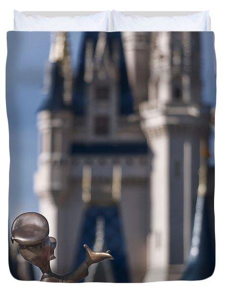 I Present You Cinderella's Castle Duvet Cover