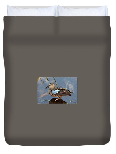 I Really Am A Green Winged Teal Duvet Cover