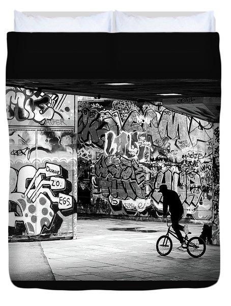 I Ride Alone Duvet Cover
