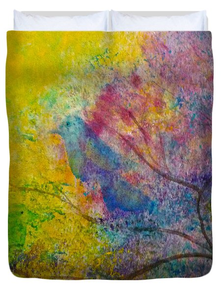 I See Birds Duvet Cover by Claire Bull