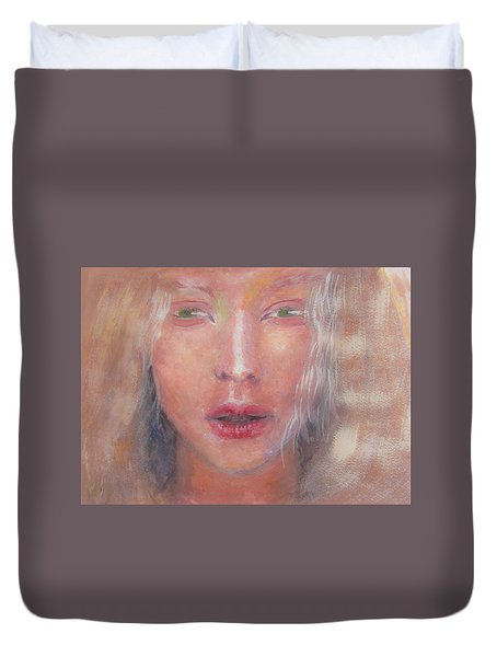 Duvet Cover featuring the painting I See The Light by Jarko Aka Lui Grande