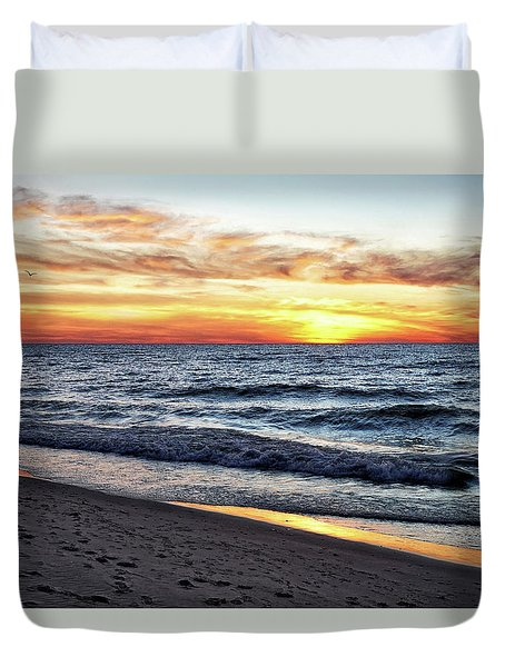 I See You In The Sunset Duvet Cover by Kathi Mirto