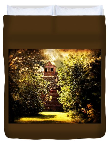 Duvet Cover featuring the photograph I See You by Julie Hamilton