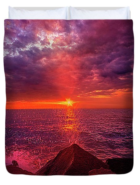 Duvet Cover featuring the photograph I Still Believe In What Could Be by Phil Koch