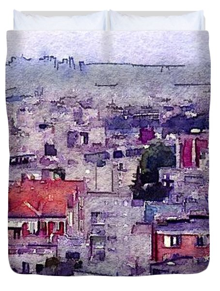 Duvet Cover featuring the photograph I Still Have Paris by Susan Maxwell Schmidt