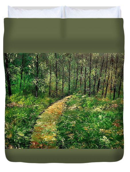I Think It's Time For Our Walk Duvet Cover by Lisa Aerts