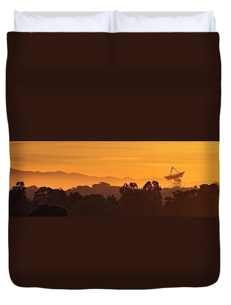 Duvet Cover featuring the photograph I Wanna Walk On Your Wave Length by Quality HDR Photography