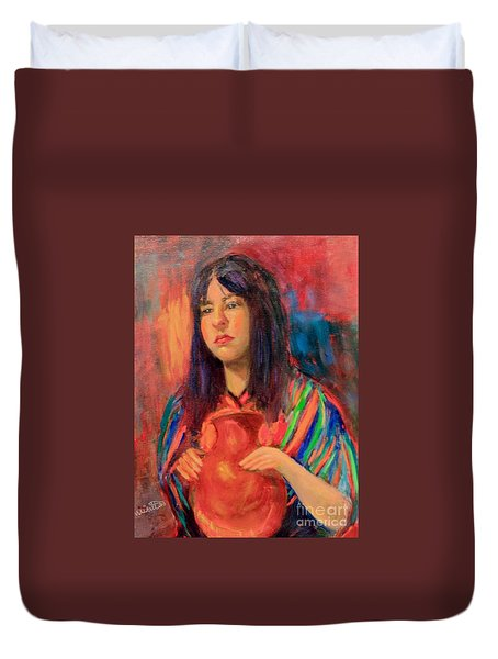 I Want This Jug Duvet Cover by Marcia Dutton