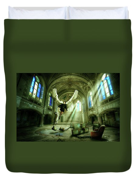 Duvet Cover featuring the digital art I Want To Brake Free by Nathan Wright