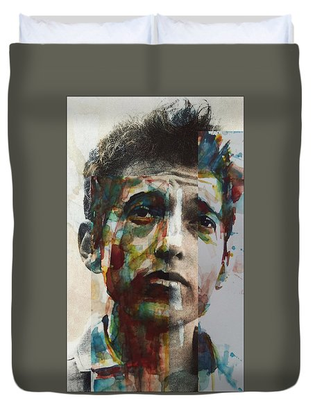 Duvet Cover featuring the painting I Want You  by Paul Lovering