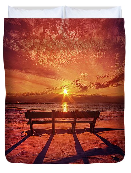 Duvet Cover featuring the photograph I Will Always Be With You by Phil Koch