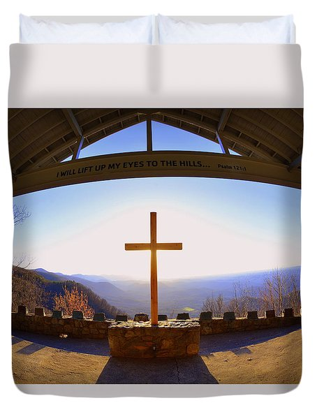 I Will Lift My Eyes To The Hills Psalm 121 1 Duvet Cover