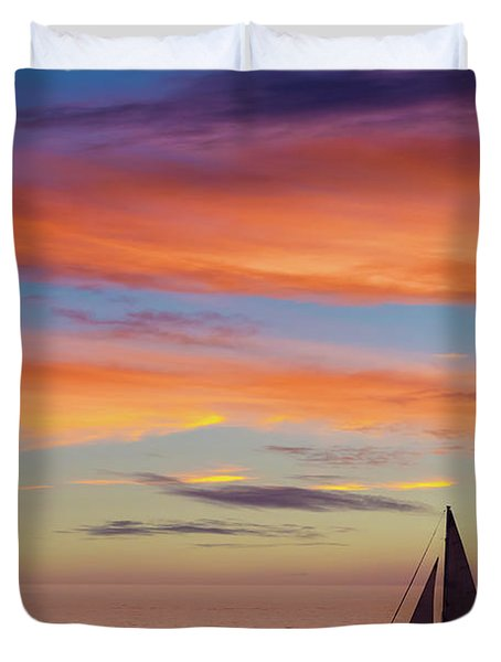 I Will Sail Away, And Take Your Heart With Me Duvet Cover