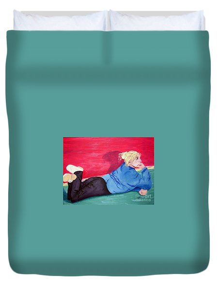 I Wonder? Duvet Cover by Lisa Rose Musselwhite