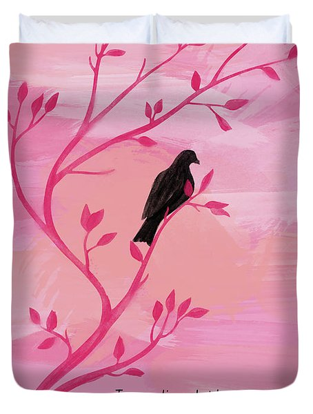 I Would Rather Have Birds Duvet Cover