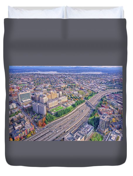 I5 Seattle Aerial View Duvet Cover