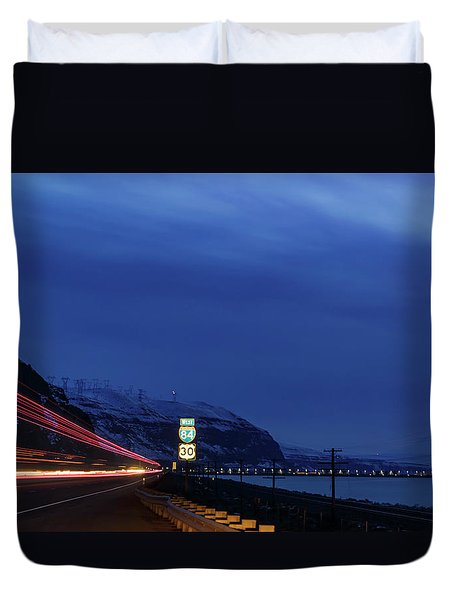 Duvet Cover featuring the photograph I84 by Cat Connor