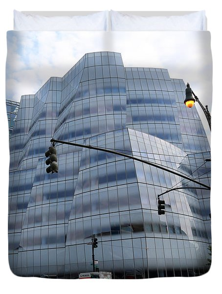 Iac Building By Frank Gehry In Chelsea Duvet Cover