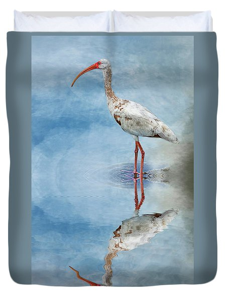 Ibis Duvet Cover by Cyndy Doty