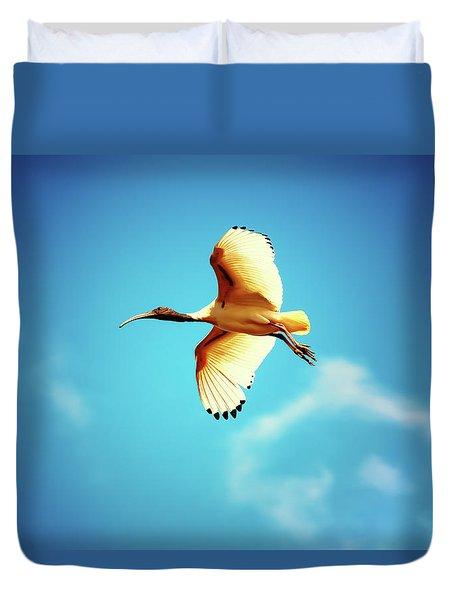 Ibis Of Light Duvet Cover