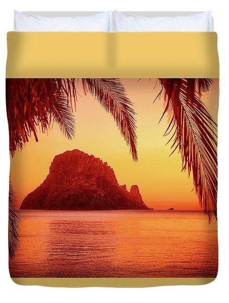 Ibiza Sunset Duvet Cover by Iryna Goodall