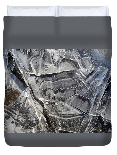 Ice Abstract Duvet Cover by Lynda Lehmann