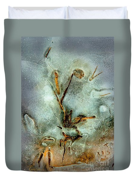 Ice Abstract Duvet Cover by Tom Cameron
