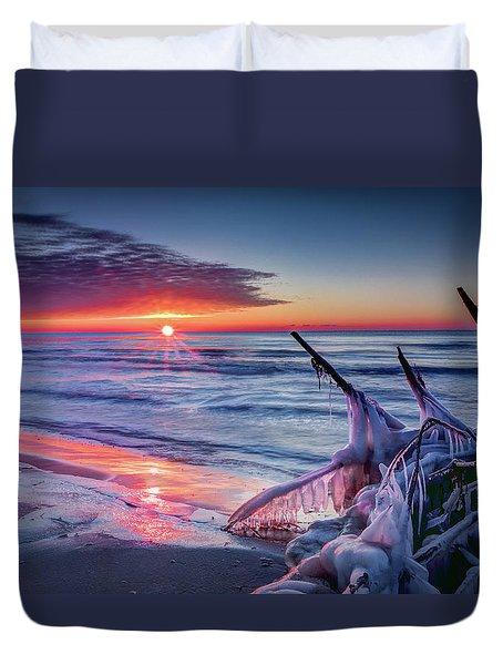 Ice Age Sunrise 1 Duvet Cover