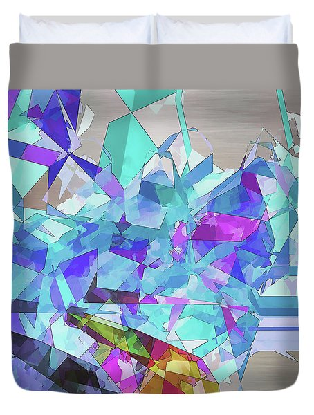 Duvet Cover featuring the digital art Ice Age by Wendy J St Christopher