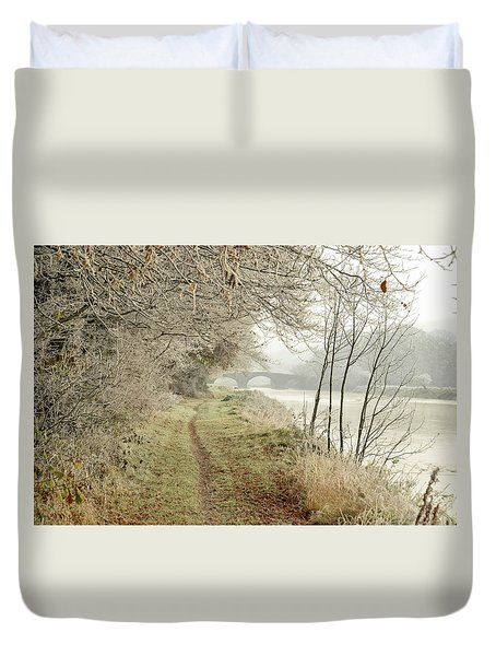 Ice And Mist Duvet Cover