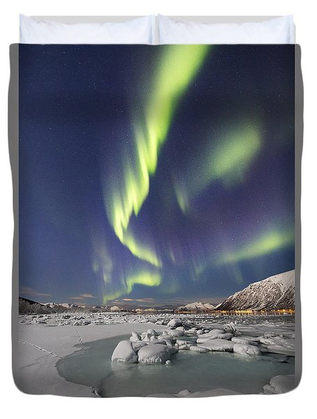 Ice And Snow Duvet Cover
