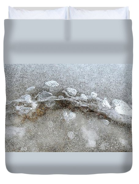 Ice And The Beach Four  Duvet Cover by Lyle Crump