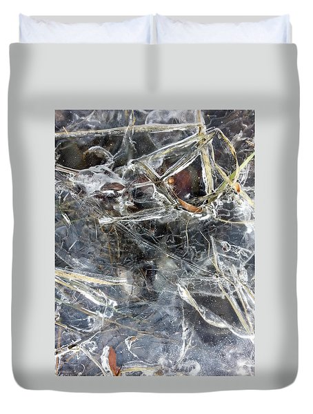 Ice Art I Duvet Cover by Joanne Smoley