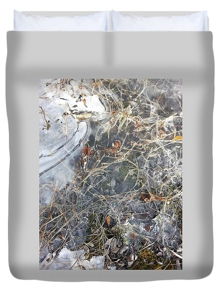 Ice Art Iv Duvet Cover