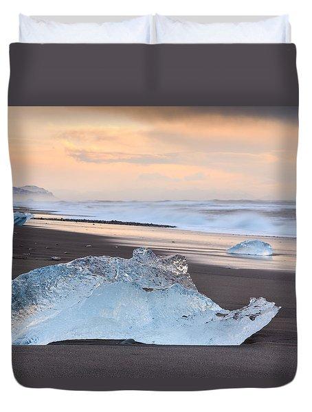 Ice Beach Duvet Cover